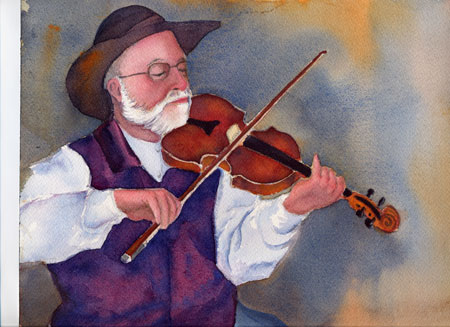 Painting of Fiddler