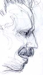 I drew this in the car. I do quick portrait gestures while I'm sitting at stoplights; great faces present themselves.