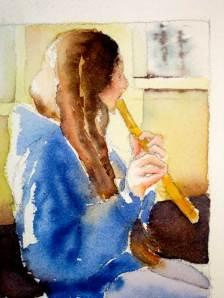 Watercolor color study