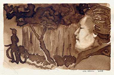 Walnut ink on Fabriano