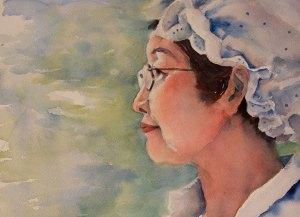 Waterolor painting of Lee