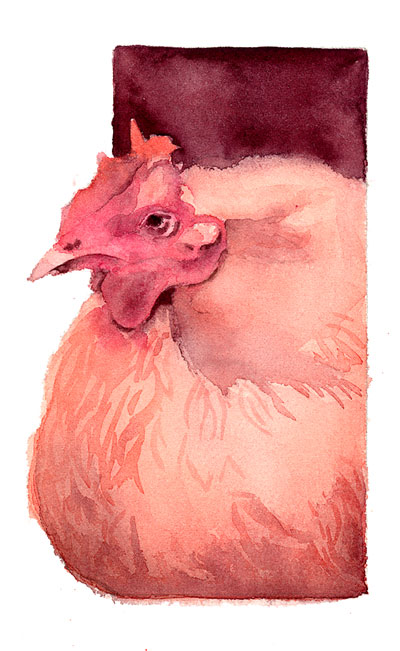 The Henny Penny In This Post Was Painted Using An Analogous Color Scheme That Is All Hues Came From Same Corner Of Wheel