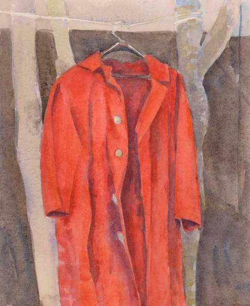 Watercolor sketch of coat