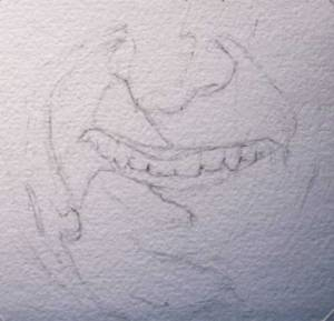 Line drawing of teeth