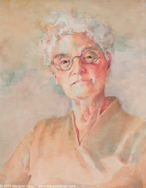Watercolor of mother