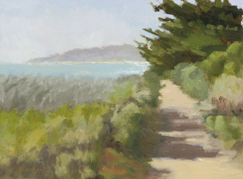 View from Ribera Road, Carmel  Oil on canvas © 2014 Cynthia Riordan