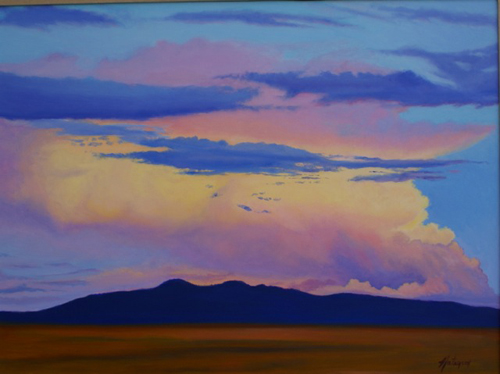 Arizona Sunset Oil on canvas © Denise Natanson-Marcus