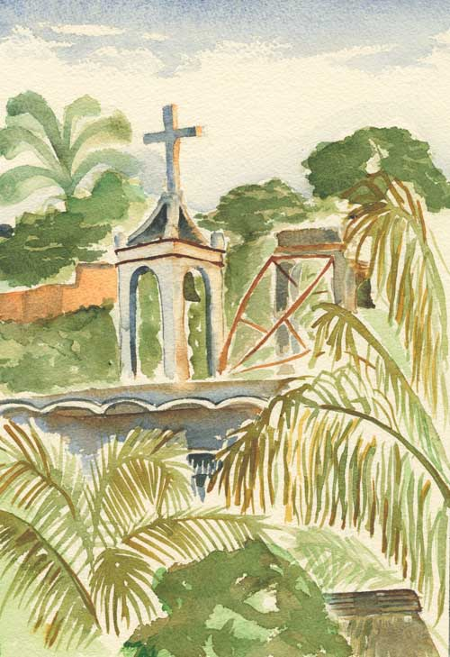 painting of church