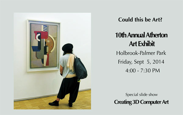 Poster for 10th Annual Atherton Arts Foundation Art Show