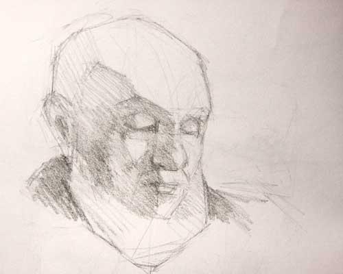 Blockin-graphite sketch
