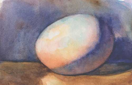 Egg 1 Watercolor on Arches #300 hot press