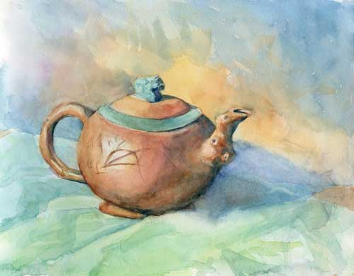 Teapot Watercolor on Arches #300 hot press