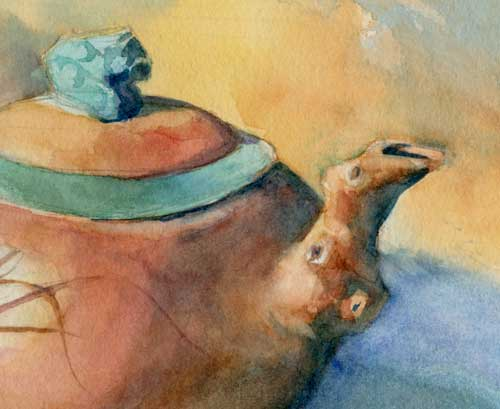 Teapot Close up Watercolor on Arches #300 hot press