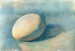 Egg 2 (Second state) Watercolor on Arches #300 hot press