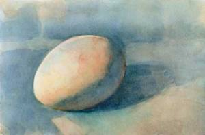 Egg 2 (Third state) Watercolor on Arches #300 hot press