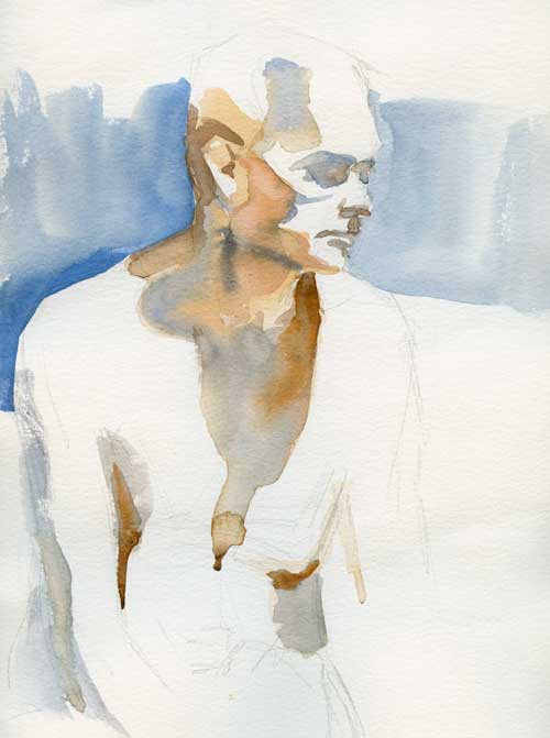 Figure  Watercolor on #140 Arches paper
