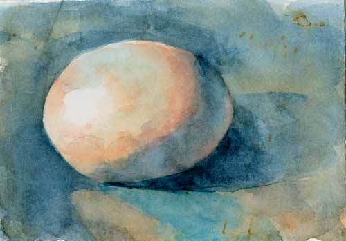 Egg 3 Watercolor on #300 Arches hot press