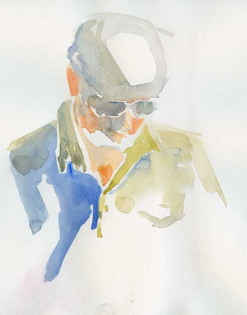 Figure drawing in watercolor