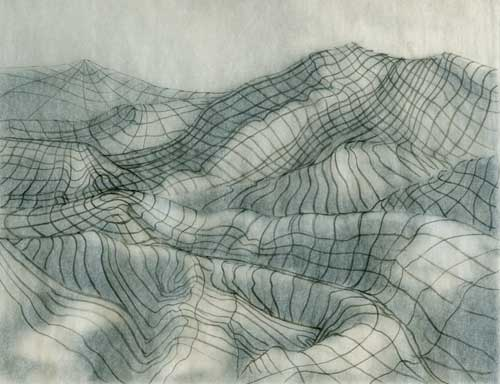 Contour Line Drawing Of A Landscape : Drawing mountain contours wireframing the landscape and
