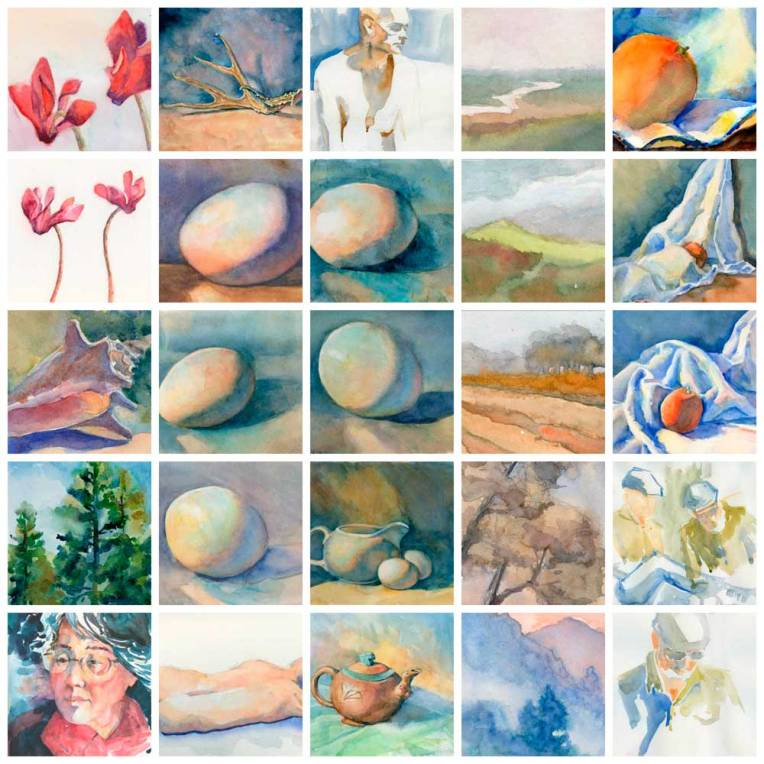 Collage of 30-in-30 paintings made with PicMonkey