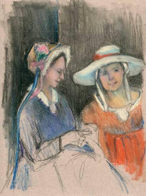 Pastel drawing