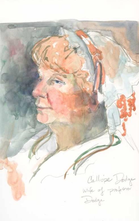 The Prenologist's Wife, Calliope Dodge Watercolor over graphite in Stillman & Birn Zeta series sketchbook
