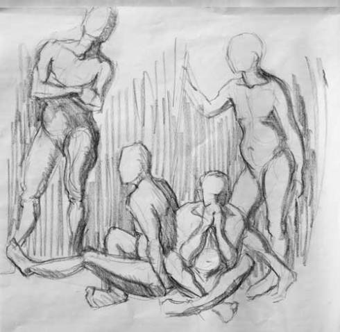 Figure drawing group