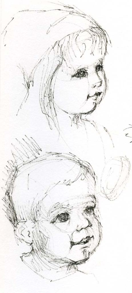Drawing of kids' faces