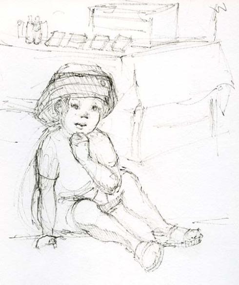 drawing of little boy