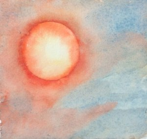 Red Sun #2 Watercolor on #300 hot press Arches