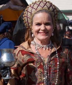 Costumed queen