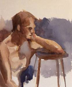 Watercolor figure